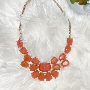 🍊 Tangerine Statement Necklace